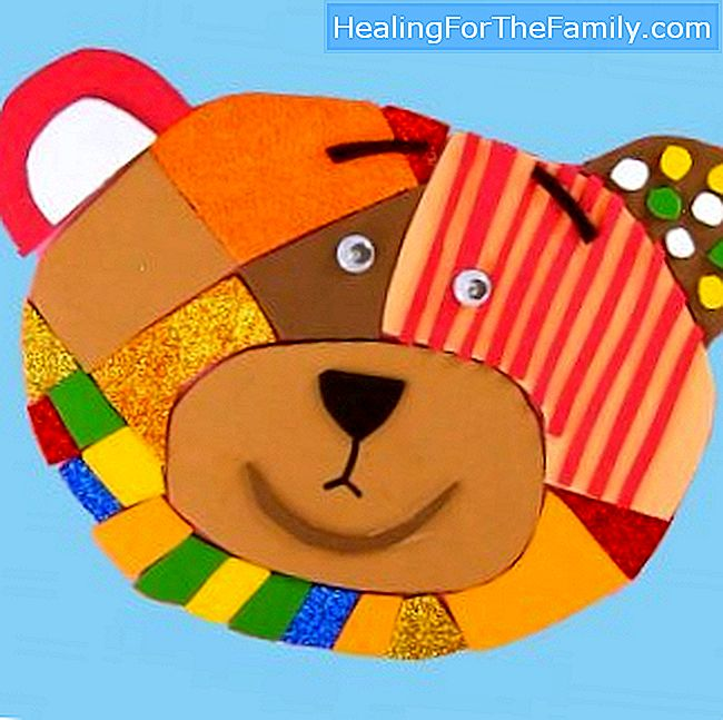 Puzzle of Traposo Bear. Crafts of homemade toys