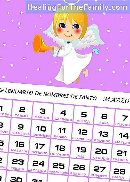 Santi Del Calendario.Calendario Dei Nomi Di Santi Di Marzo Bambini 2017 2017